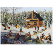Trefl/Pierre Belvedere Trefl Winter at the Log Cabin Puzzle 1000pcs