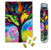 MicroPuzzles MicroPuzzles Stained Glass Tree Mini Puzzle 150pcs