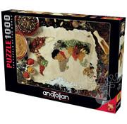 Anatolian Anatolian Herbal World Map Puzzle 1000pcs