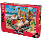 Anatolian Anatolian Cats on the Beach Puzzle 260pcs