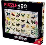 Anatolian Anatolian Butterfly Stamps Puzzle 500pcs