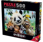 Anatolian Anatolian Zoo Selfie Puzzle 500pcs