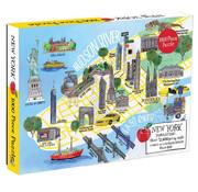 Galison Galison New York City Map Puzzle 1000pcs