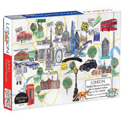 Galison Galison London Map Puzzle 1000pcs
