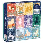 Galison Galison Cat Zodiac Puzzle 500pcs