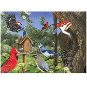 Cobble Hill Puzzles Cobble Hill Around the Birdfeeder Tray Puzzle 35pcs