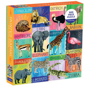 Mudpuppy Mudpuppy Painted Safari Puzzle 500pcs