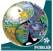 Canadian Art Prints Indigenous Collection: Lovebirds Round Puzzle 500pcs