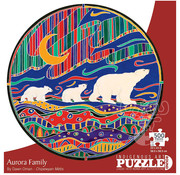 Canadian Art Prints Indigenous Collection: Aurora Family Round Puzzle 500pcs
