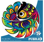 Canadian Art Prints Indigenous Collection: Tie-Dye Owl Round Puzzle 500pcs