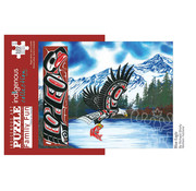 Canadian Art Prints Indigenous Collection: Blue Eagle Family Puzzle 500pcs