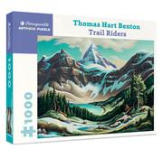 Pomegranate Pomegranate Thomas Hart Benton: Trail Riders Puzzle 1000pcs