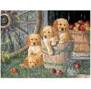 Cobble Hill Puzzles Cobble Hill Puppy Pail Family Puzzle 350pcs