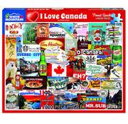 White Mountain White Mountain I Love Canada Puzzle 1000pcs