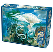 Cobble Hill Puzzles Cobble Hill White Dragon Puzzle 500pcs