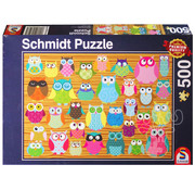 Schmidt Schmidt Owl Collage Puzzle 500pcs