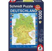Schmidt Schmidt Map of Germany Puzzle 1000pcs
