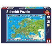Schmidt Schmidt Discover Europe Puzzle 500pcs