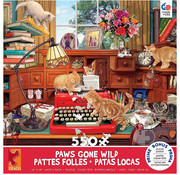 Ceaco Ceaco Paws Gone Wild Writer's Block Puzzle 550pcs
