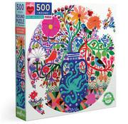 eeBoo eeBoo Birds and Flowers Round Puzzle 500pcs