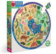 eeBoo eeBoo Biodiversity Round Puzzle 500pcs
