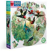 eeBoo eeBoo Hummingbirds Round Puzzle 500pcs