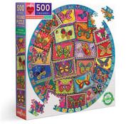 eeBoo eeBoo Vintage Butterflies Round Puzzle 500pcs
