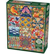 Cobble Hill Puzzles Cobble Hill Twelve Days of Christmas Quilt Puzzle 1000pcs