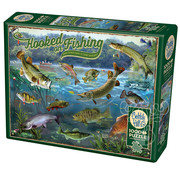 Cobble Hill Puzzles Cobble Hill Hooked on Fishing Puzzle 1000pcs