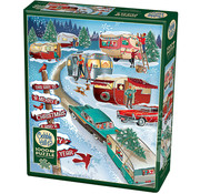 Cobble Hill Puzzles Cobble Hill Christmas Campers Puzzle 1000pcs