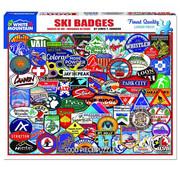 White Mountain White Mountain Ski Badges Puzzle 1000pcs