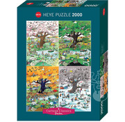 Heye Heye Cartoon Classics 4 Seasons Puzzle 2000pcs