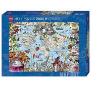 Heye Heye Map Art Quirky World Puzzle 2000pcs