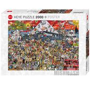 Heye Heye Mishmash: British Music History Puzzle 2000pcs