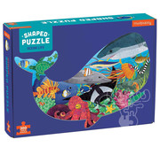 Mudpuppy Mudpuppy Ocean Life Shaped Puzzle 300pcs