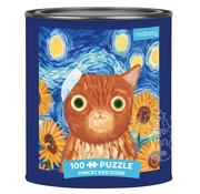Mudpuppy Mudpuppy Vincat van Gogh Artsy Cats Puzzle Tin 100pcs