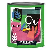 Mudpuppy Mudpuppy Henri Catisse Artsy Cats Puzzle Tin 100pcs
