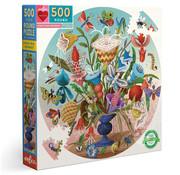 eeBoo eeBoo Crazy Bug Bouquet Round Puzzle 500pcs