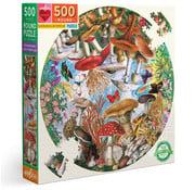 eeBoo eeBoo Mushrooms and Butterflies Round Puzzle 500pcs