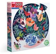 eeBoo eeBoo Still Life with Flowers Round Puzzle 500pcs