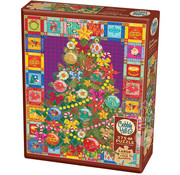 Cobble Hill Puzzles Cobble Hill Christmas Tree Quilt Easy Handling Puzzle 275pcs