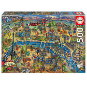 Educa Borras Educa Paris Map Puzzle 500pcs