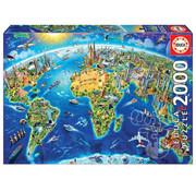Educa Borras Educa World Landmarks Globe Puzzle 2000pcs