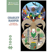 Pomegranate Pomegranate Charley Harper: The California Desert Mountains Puzzle 1000pcs