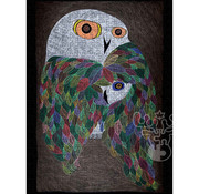 Pomegranate Pomegranate Ningeokuluk Teevee: Colourful Wild Owl  Puzzle 500pcs