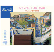 Pomegranate Pomegranate Wayne Thiebaud: Valley Streets Puzzle 1000pcs