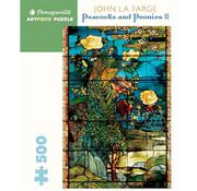 Pomegranate Pomegranate John La Farge: Peacocks and Peonies II Puzzle 500pcs