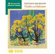 Pomegranate Pomegranate Gustave Baumann: Cholla and Sahuaro  Puzzle 500pcs