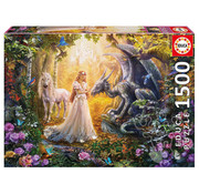 Educa Borras Educa Dragon, Princess and Unicorn Puzzle 1500pcs