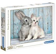 Clementoni Clementoni Cat & Bunny Puzzle 500pcs